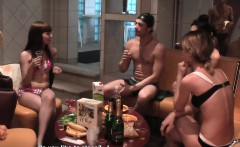 Teen college amateurs get tits out by the spa
