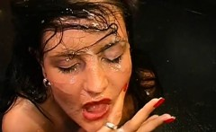 Raunchy and salacious group orgy session with women
