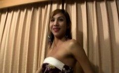 Redhead ladyboy gets her mouth stuffed with big cock