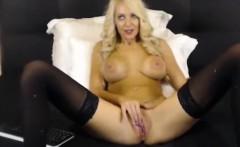 Hot Blonde Webcam Girl Teases Her Pussy