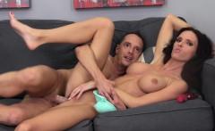Busty brunette Jennifer Dark gets her snatch pumped full of hard meat