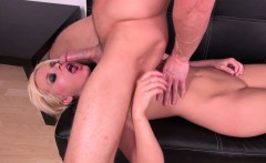 Thin blonde Kelly Surfer eats his stiffy and gets her twat pumped
