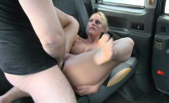 Massive tits blonde passenger anal fucked in the taxi