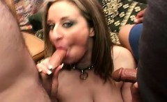 Voluptuous blonde milf has two lustful guys sharing her hairy snatch