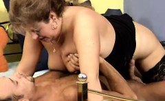 Short haired mature nympho Nancy is yearning for hardcore sex action