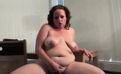 Naked chubby mature dildo fucks her cunt