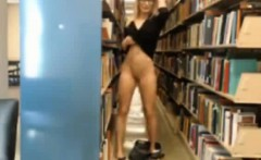 Nerdy Webcam Girl Masturbating In Library