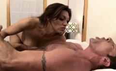 Bigboobed glamour tranny nailed in asshole