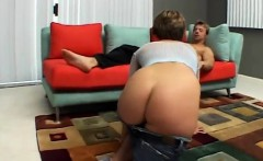 Claire's tight ass hole gets rammed so hard by two frenzied