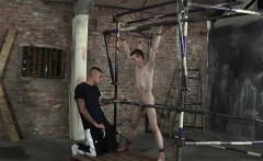 Kinky Tyler makes full use of captive fresh twink James