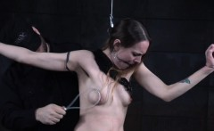 Enslaved sub restrained and spanked