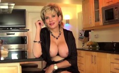 Unfaithful british milf gill ellis shows her enormous boobs