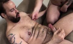 Superchub bear cockriding mature bearded dick