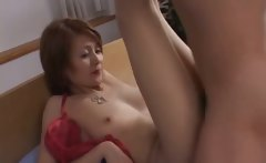Japanese mature chick has hot sex