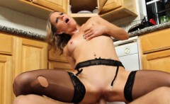 Small Tits Blonde In Black Stockings Fucked Alyssa Dutch