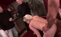 Blonde wife gets her asshole plugged