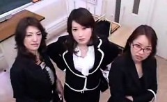 Three attractive Oriental ladies share their intense desire