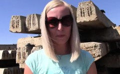 Dity blonde amateur anal bangs outdoors