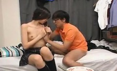 Beautiful Japanese teen enjoys hot sex with her boyfriend o