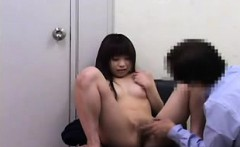 Cute Asian teen goes in for a checkup and gets her pussy ex