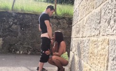 Hot Girlfriend Fucked Outdoors