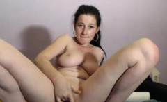 Naughty Huge Tits Brunette Waits For Your Dick
