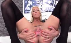 Wacky czech girl spreads her spread vulva to the extreme