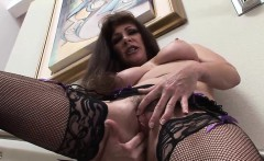 Raunchy cougar Alexandra simply loves masturbating