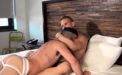 Jock barebacked by his muscular partner