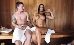 Big Tit MILF in the sauna
