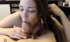 One webcam amateur girl amazed by his big cock
