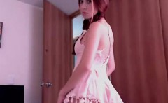 Redhead teen babe in lingerie hardcore