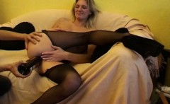Blonde Milf In Sexy Stockings Fingered And Fucked