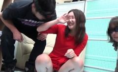 Kinky babe rubs herself
