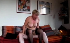 Mature stockings milf sucking dick before hardcore