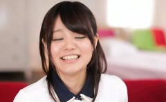 Needy japan schoolgirl works cock and toys on her wet crack