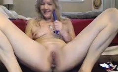 Amateur Mature Wife Jerk Off her Hubbys Cock