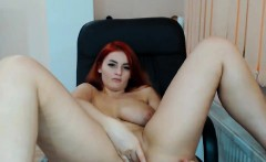 Tania big boobs redhead babe undresses at home