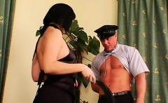 Hot s&m festish with mistress spanking her slave hard