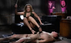 Busty femdom Richelle Ryan punishes guy