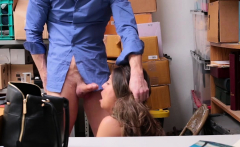 Teen shoplifter busted and fucked by a security guy