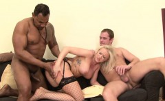 Gangbanged babe anal fucking pussy DP and swallows cum