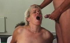 Grandma sex threesome