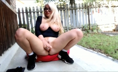 Hot Squirting In The Yard