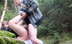Amateur couple goes to the woods and fucks