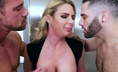 Big juggs ho Phoenix Marie fucking with stepson n daddy