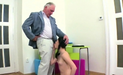 Cute schoolgirl was tempted and screwed by her aged teacher0