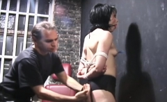 Busty babe gets nipple-tortured in sadomasochism style scene
