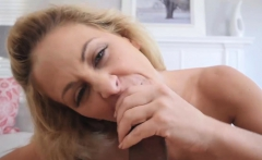 Blonde MILF stepmom enjoyed in sex with a horny stepson