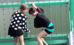 Weird asian sluts peeing